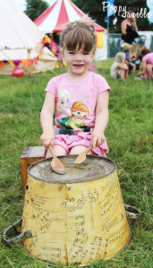 Little girl with drum
